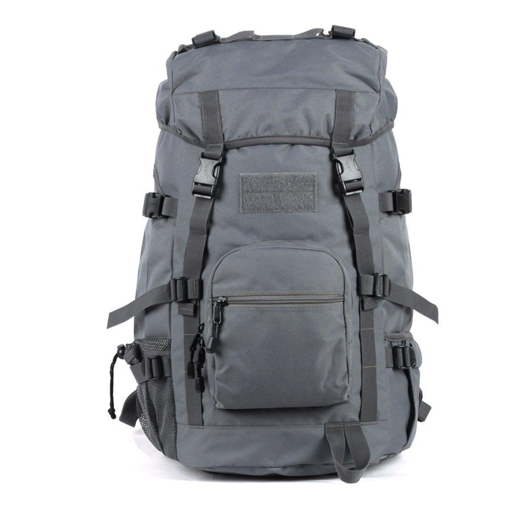 アウトドアAハイキングバッグメンズとレディースMountaineering Bags 45l防水ショルダーバッグ大容量旅行バッグハイキングバックパック 45L グレー 45L グレー B07BT99BPH