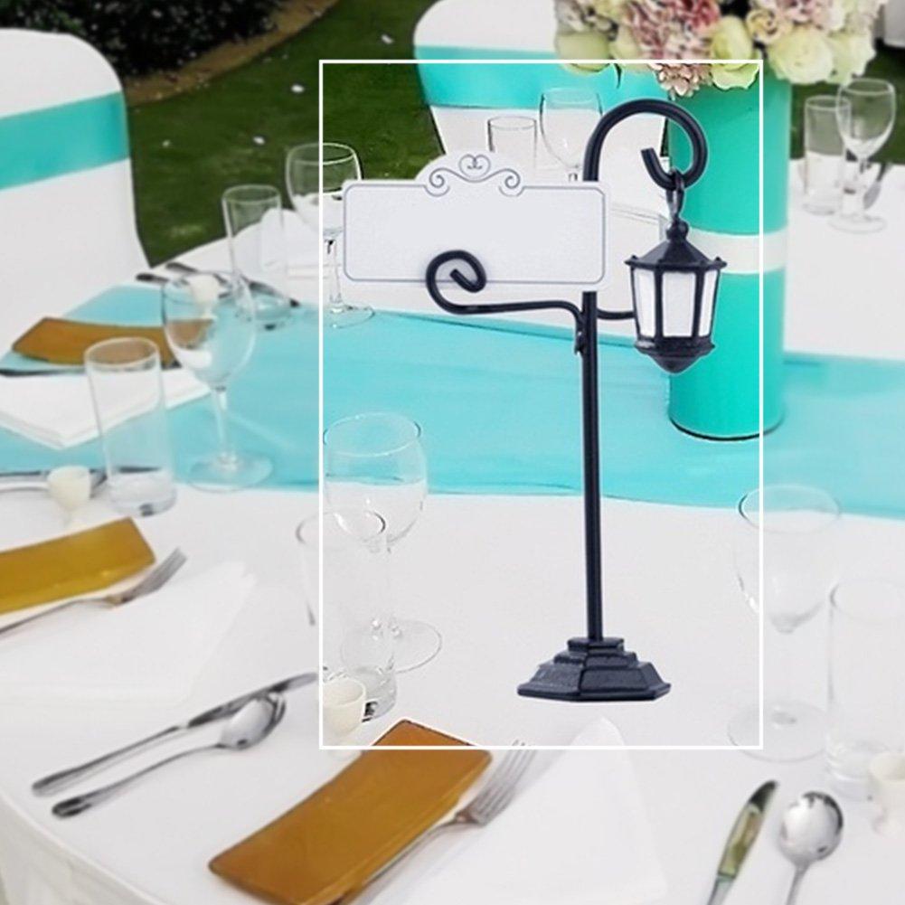 5 soportes para tarjetas de recepci/ón de boda men/ú soporte con una tarjeta Tama/ño libre negro fotos fiesta mesa pinzas para tarjetas