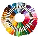 Soledi Embroidery Floss 50 Skeins Embroidery Thread Rainbow Color Cross Stitch Floss