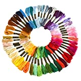 Soledi Cross Stitch Floss 50 Skeins Premium Rainbow Color Embroidery Floss Sewing Threads