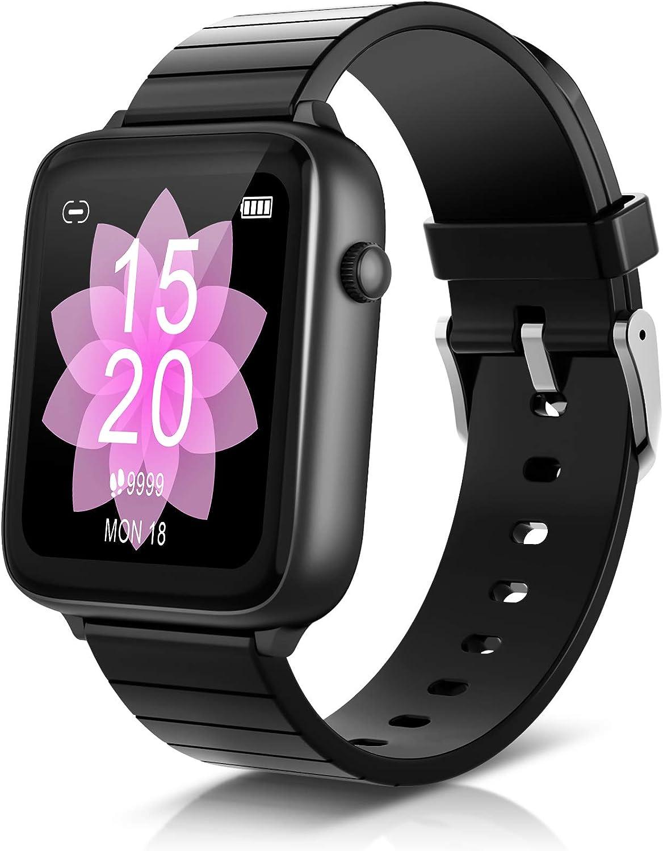ELEGIANT SmartWatch, 1.54'' Reloj Inteligente IP68 con Pantalla Táctil, Pulsera Actividad Inteligente Hombre Mujer Niños para Deporte, Monitor de Actividades, Podómetro Cronómetros para iOS Android