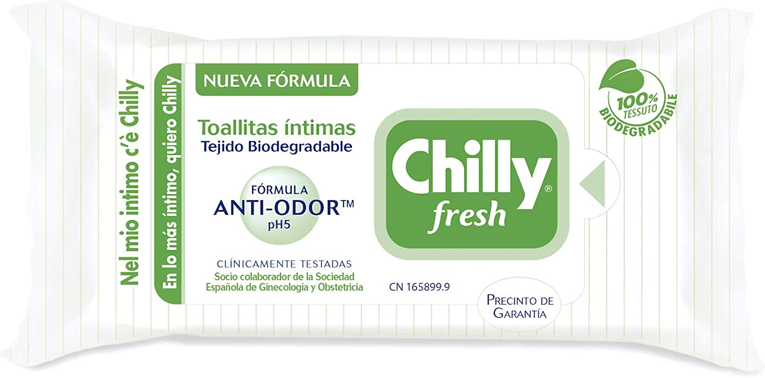Chilly Toallitas Íntimas Gel 12 Unidades 300 ml