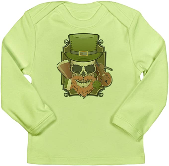 3 To 6 Months Truly Teague Long Sleeve Infant T-Shirt ST Patricks Irish Skull Kiwi