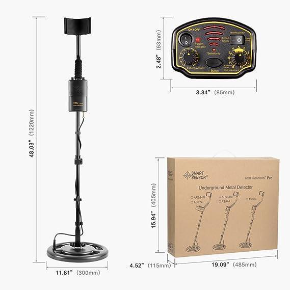 Detector de Metales, Alta Precisión Impermeable Profundidad1.5m Detectores de metales con Vástago Ajustable y Bobina de Sensibilidad para Cazador de tesoros ...