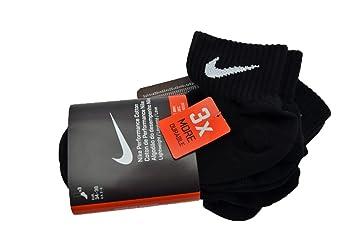 Nike Soft Dry Performance 3 Pares de Calcetines de Nuevo Tipo. negro Talla:M: Amazon.es: Deportes y aire libre