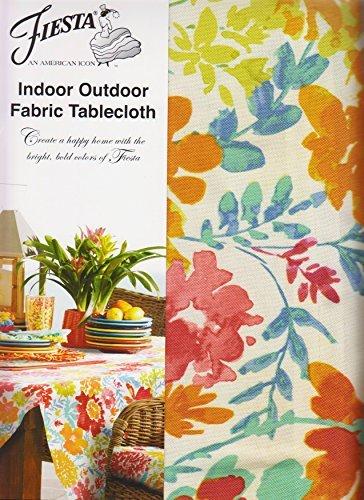 Fiesta Garden Floral Umbrella Tablecloth Zippered Outdoor Fabric (70 Round Umbrella)