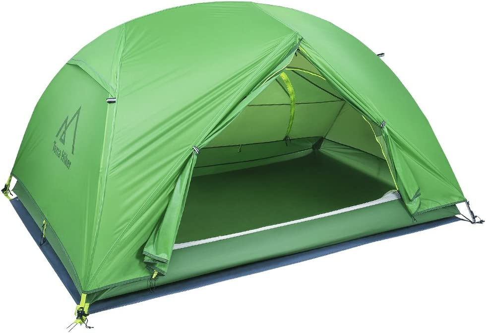Terra Hiker 2 Person Tent, 4 Seasons Tent with Tent Fly, Tarp for Outdoor Activities