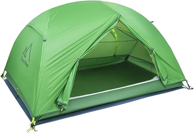 Terra Hiker Carpa para Camping de Doble Capa para Las 4 Estaciones, 2 Personas, Resistente al Agua y al Viento