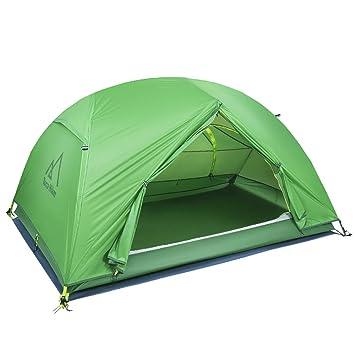 SKYSPER Kuppelzelt Wasserdicht Trekkingzelt Outdoor Leichtes Campingzelt Manueller Familienzelt mit Tragetasche f/ür 2 Personen Olivgr/ün