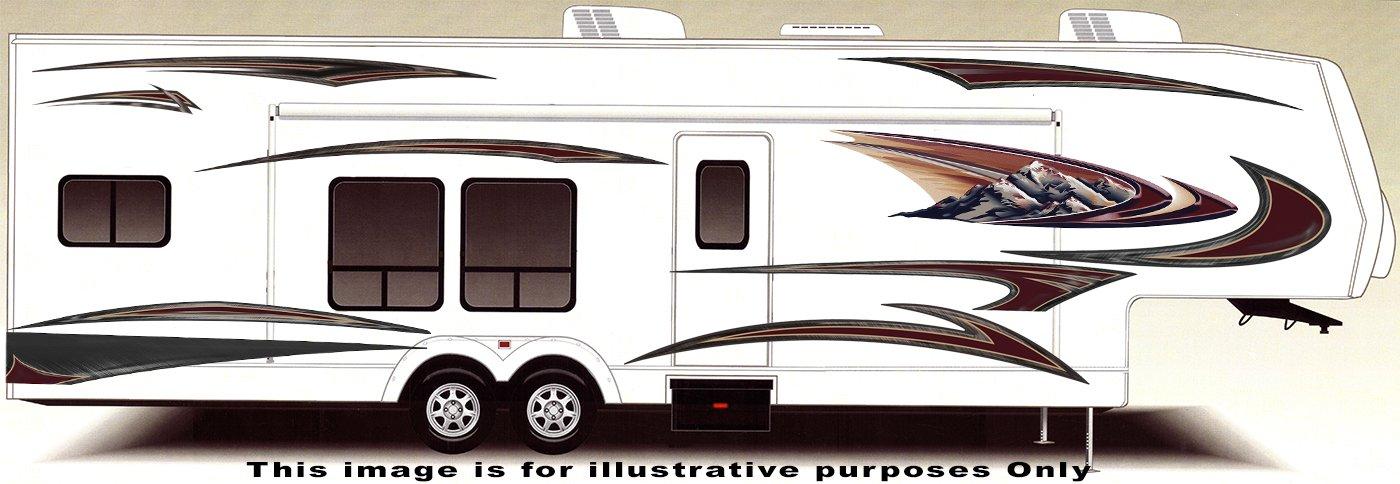 RV, Trailer, Camper, Large Vinyl Decals/Graphics Kit -K-0009