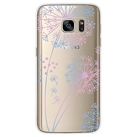 Yokata Funda para Samsung Galaxy S7 Transparente Carcasa Silicona Ultra Fina Suave TPU Gel Bumper Case Protección Anti-Golpes Anti-Choque con Dibujos ...