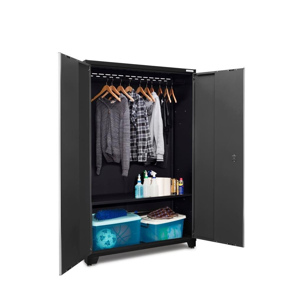 NewAge Products Bold 3 Series 77 in. H x 48 in. W x 18 in. D 24-Gauge Steel 48 in. Extra-Wide Locker in Gray