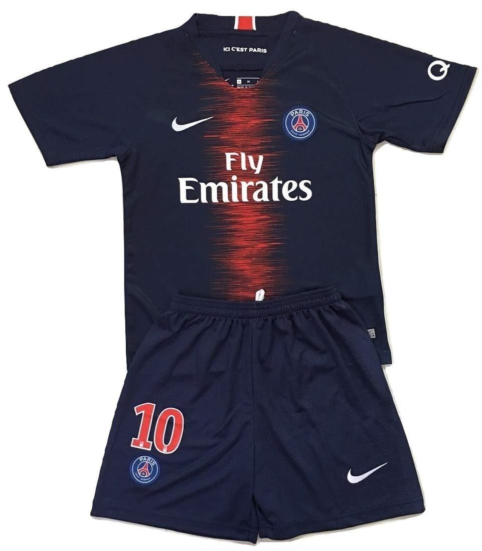 separation shoes 4b6ae af51d Gadzhinski2017 Neymar Jr #10 PSG 2018-2019 Kids/Youths Home Soccer Jersey &  Shorts