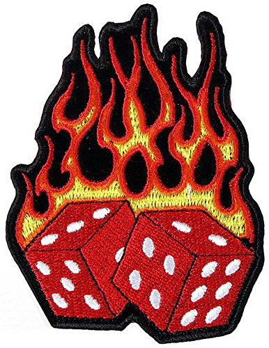 FLAMING DICE patch -