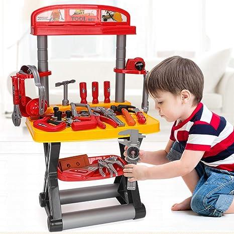 Awesome Amazon Com Hisoul 54 Pieces Kids Workbench With Realistic Inzonedesignstudio Interior Chair Design Inzonedesignstudiocom