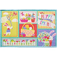 Blossoms & Blooms Patchwork Bunny Rug - 20 x 30