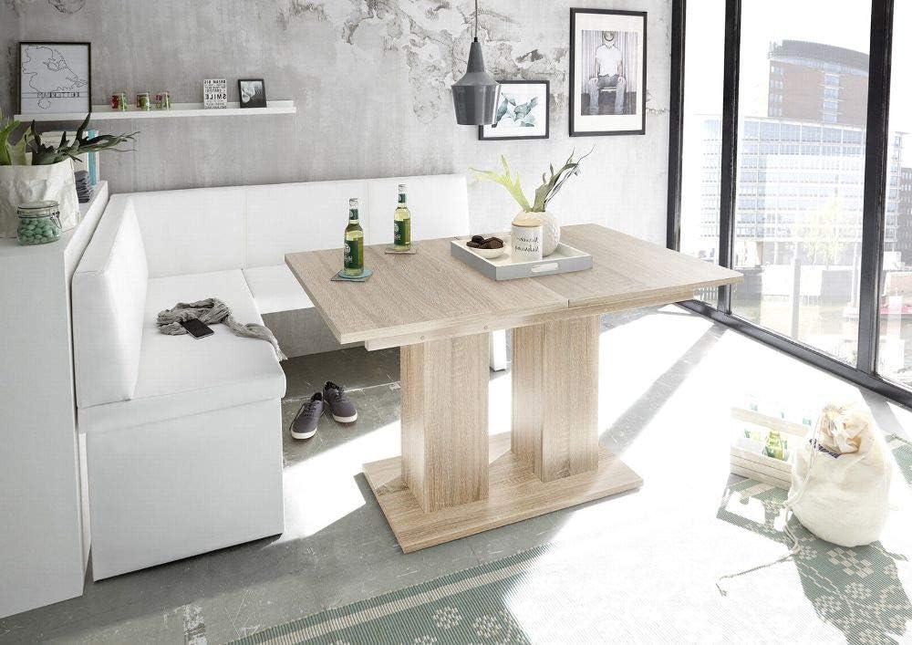 "MyStyleWood Panchina ad angolo da cucina /""Olga/"" struttura in legno resistente facile da pulire in ecopelle spessa imbottitura"