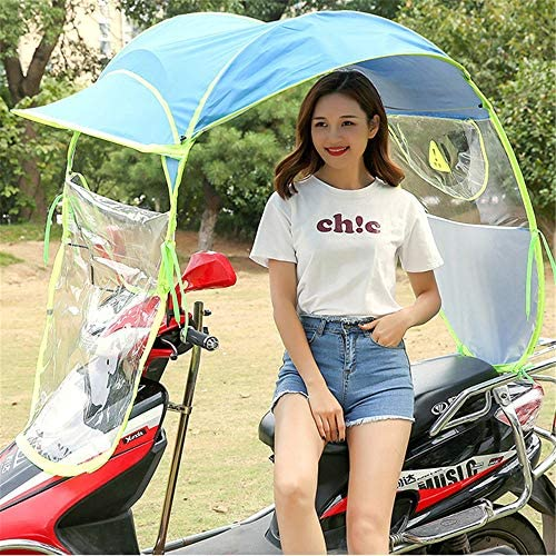 WM/&LJP Universal Electric Motorcycle Sunshade Cover,Fully Enclosed Motor Scooter Umbrella Mobility Sun Shade /& Rain Cover Waterproof,A,Norearviewmirror