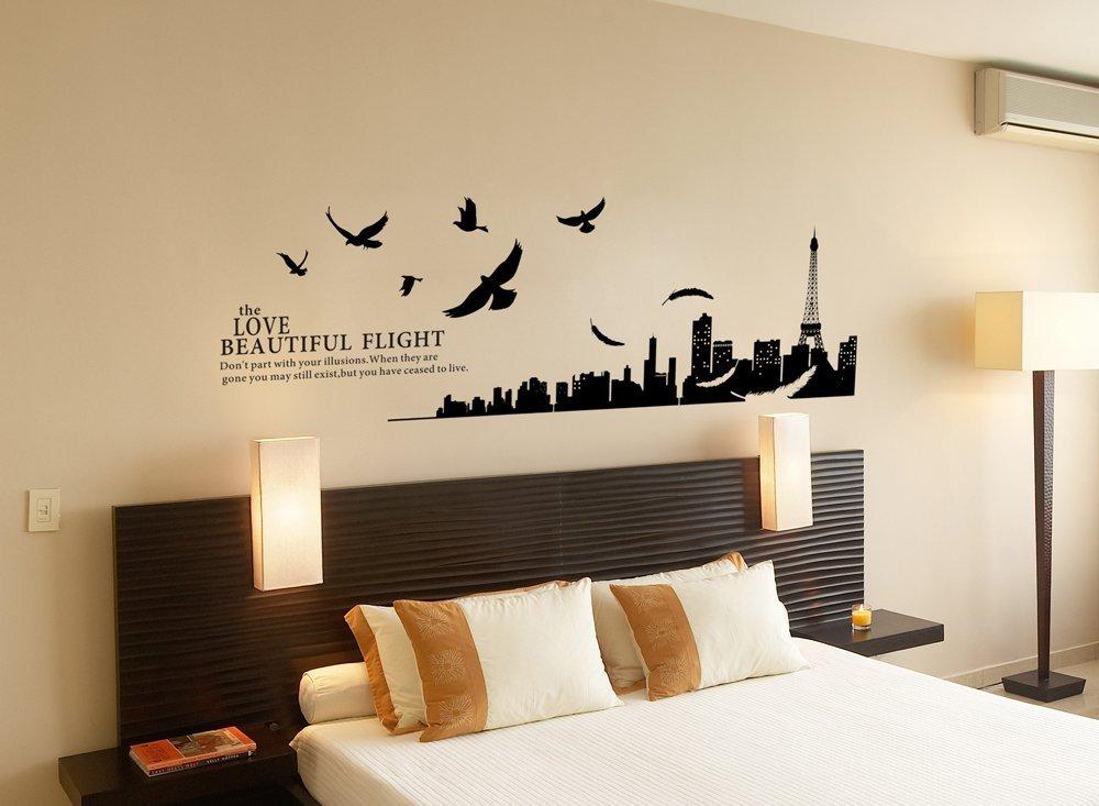 Disegni pareti camerette disegni su parete per camera da - Colori da parete per camera da letto ...