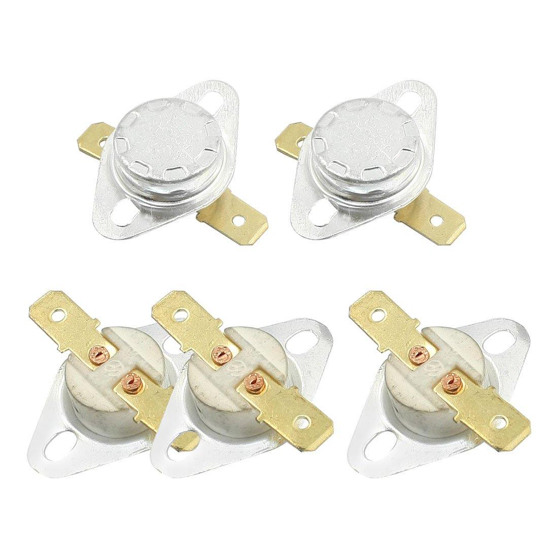5Pcs NC Ceramic Temperature Switch 165 Degree Celsius KSD301 Sourcingmap a13092400ux0049