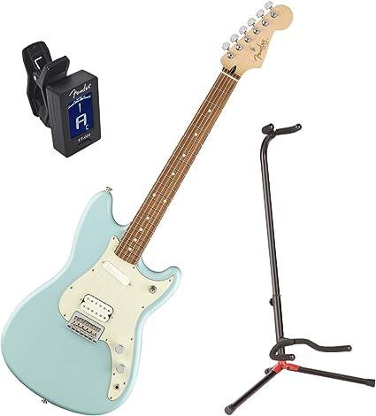 Guitarra eléctrica Fender Duo Sonic HS PF DNB W/Stand y ...