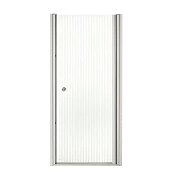 KOHLER K-702402-L-MX Fluence Frameless Pivot Shower Door, Matte ...