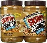 Skippy 2-48 Oz Natural Peanut Butter Spread Creamy, 6 Lb
