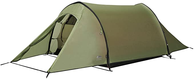 Vango F10 Xenon UL 2 Person Tunnel Tent, Alpine Green