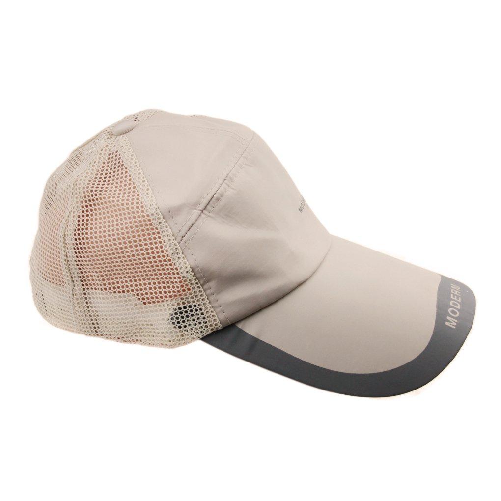 FakeFace Adults Fast Dry Large Long Brimmed Baseball Golf Cap Outdoor Sports Fishing Anti-UV Sun block Protection SunHat Sunbonnet Adjustable Mesh Cap Hat,Camel,Adjustable