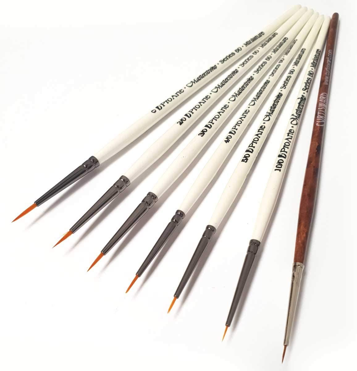 Pro Arte Fine Detail Paint Brushes for Painting Miniatures Size 10//0.