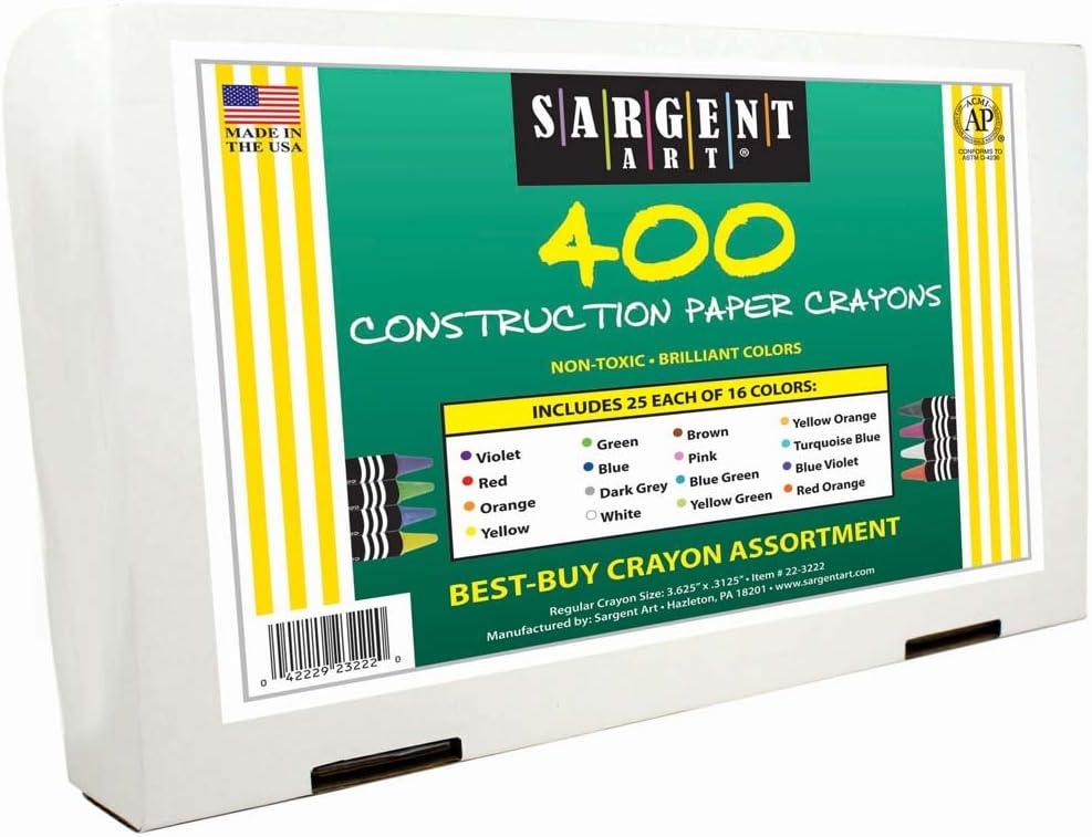 Sargent Art Construction Paper Best Buy Assorted 400 Ct Standard Size