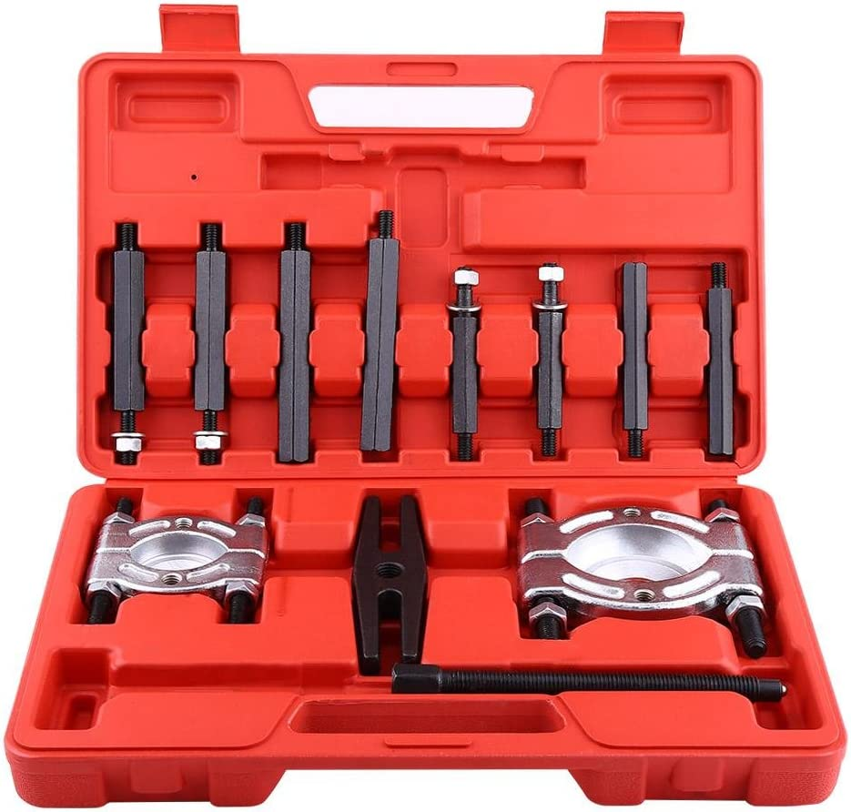 Qiilu Extractores de Rodamientos y Cuchillas Divisorias Juego de 12 piezas con caja