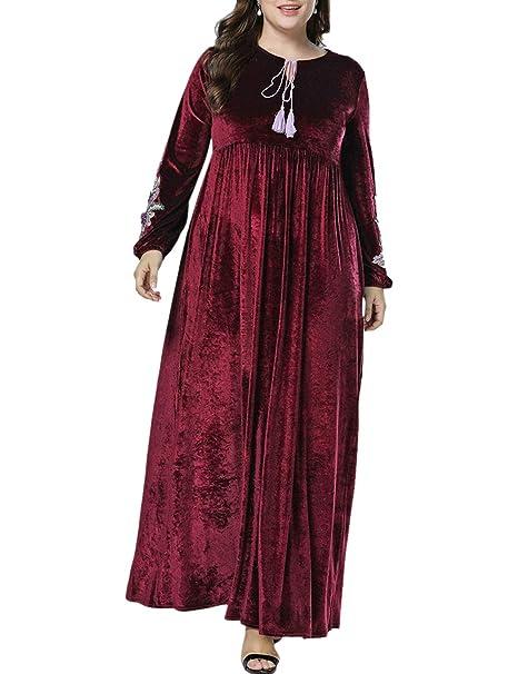 Amazon.com: Zhhlinyuan vestido árabe musulmán Dubai albornoz ...