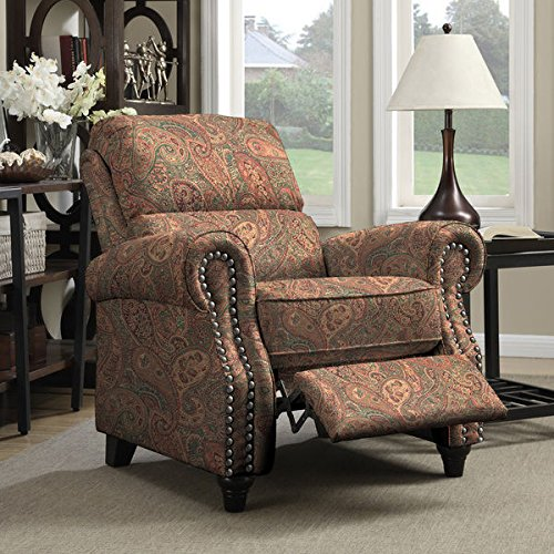 Amazon Com Portfolio Prolounger Paisley Push Back