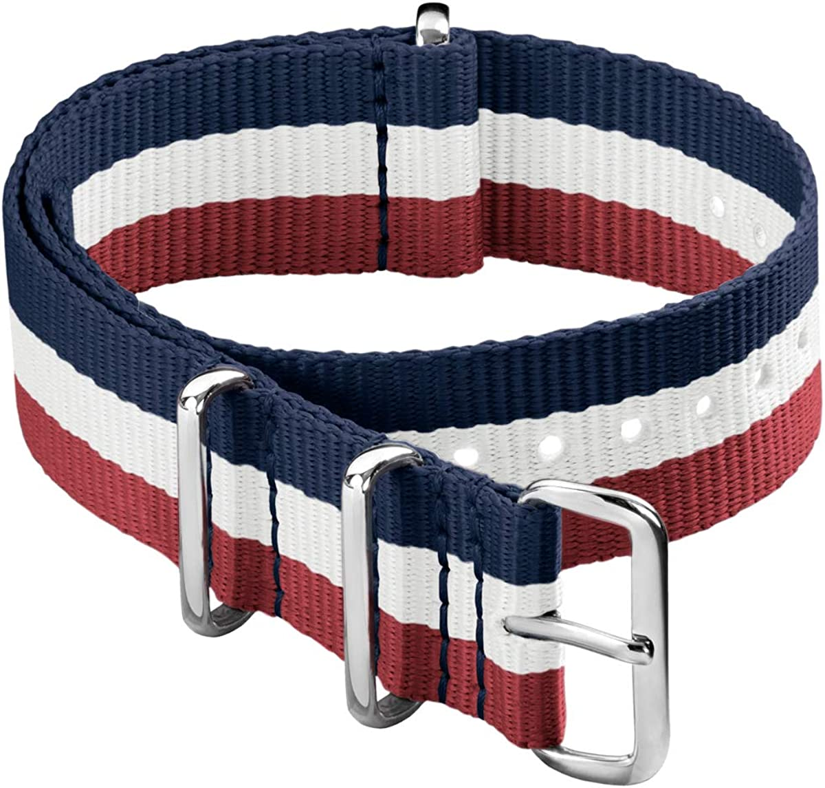 Archer Watch Straps - Classic Military Style Nylon Watch Strap - Choice of Color and Size (18mm, 20mm, 22mm, 24mm)