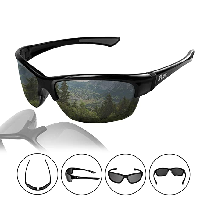 6619fe7445d Flux Polarized Sports Sunglasses with Anti-Slip Function and Light Frame -  for Men and