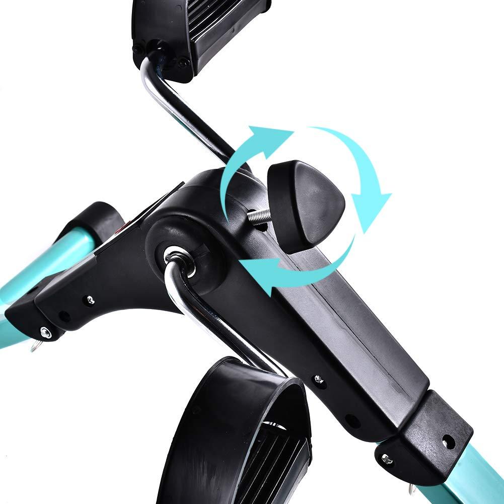 B BAIJIAWEI Portable Pedal Exerciser - Under Desk Exercise Machine - Arm & Leg Exercise Peddler - Folding Low Impact Exercise Bike for Seniors and Elderly by B BAIJIAWEI (Image #4)
