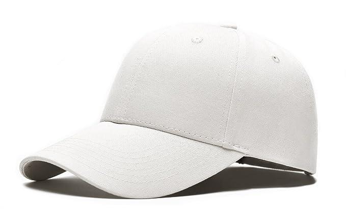 Tuopuda® Casquette de Baseball Couleur Unie Ajustable 6 Panneaux Taille  Unique Baseball Cap (Blanc 98ecd3976f1