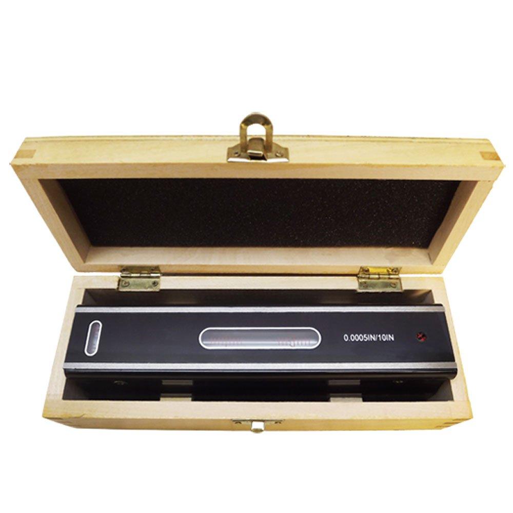 8'' Precision Leveler Graduation .0005 Bar measurement Ruler Bar V Groove Base