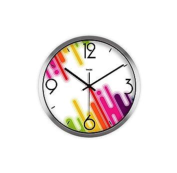 Gut Wall Clock Mode Kreative Kunst Uhr High Definition Glasspiegel Wanduhr Schräge  Farbe Stein Quarzuhr Wohnzimmer