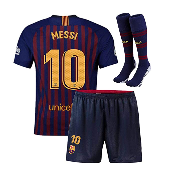 Claysydo Youth Messi 10 Kids 2018/19 FC Barcelona Home