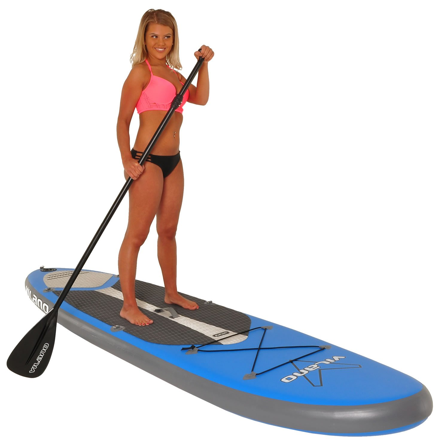 Inflatable SUP Stand Up Paddle Board Package Vilano Navigator 10 6 Thick