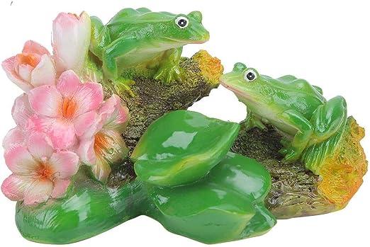 Fditt Preciosa simulación Rana Modelo artesanía Ornamento Miniatura decoración del Paisaje para jardín jardín Patio: Amazon.es: Jardín