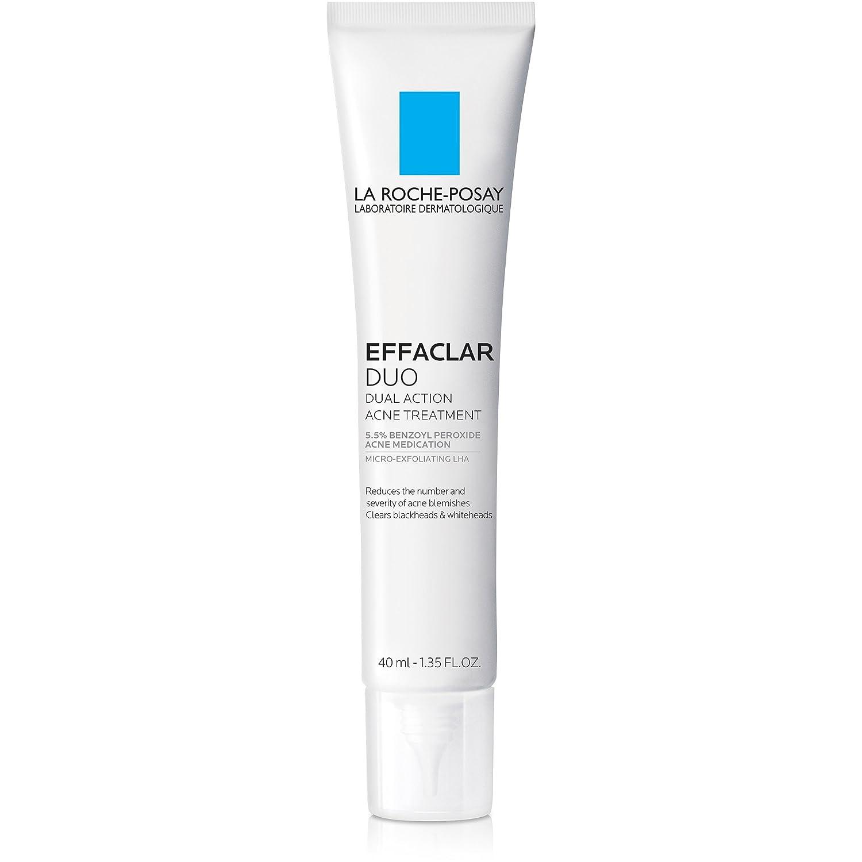 La Roche-Posay Effaclar Duo Acne Treatment with Benzoyl Peroxide, 1.35 Fl. Oz.