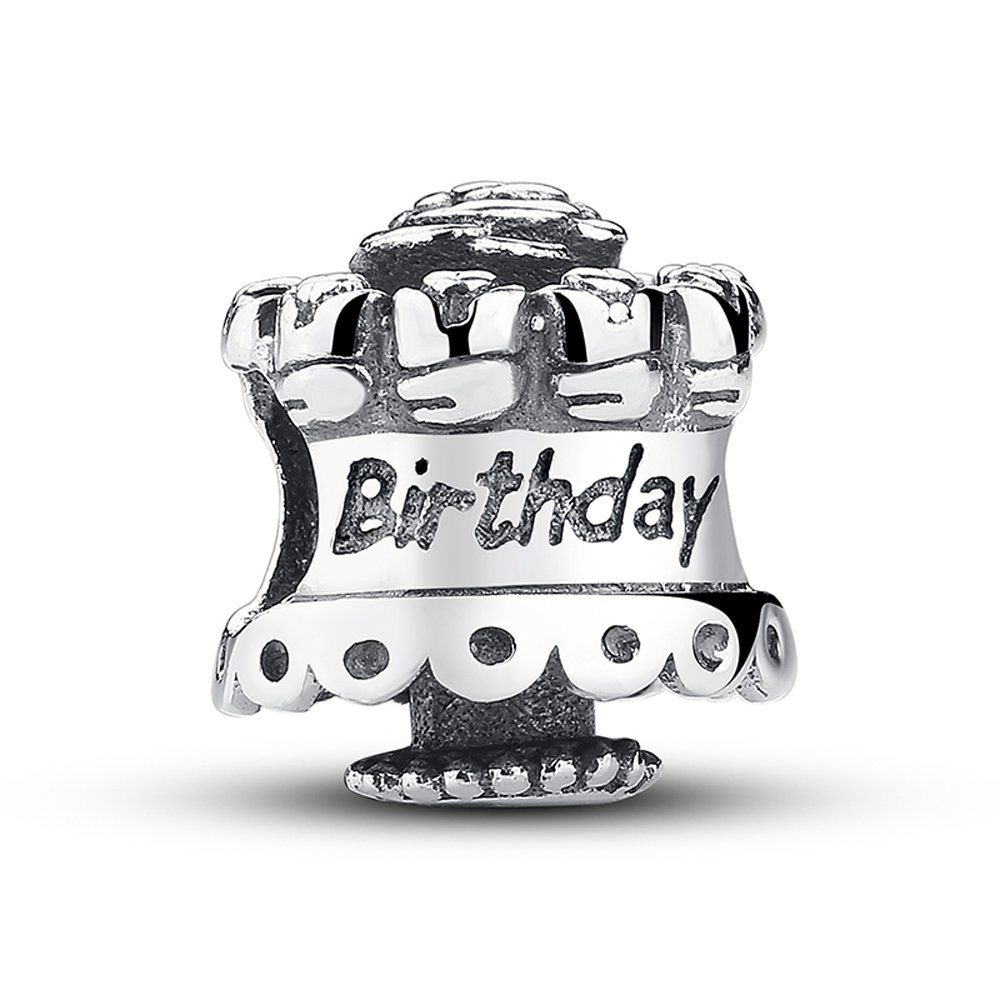 Lily Jewelry Feliz cumpleaños 925 plata esterlina grano Fits ...