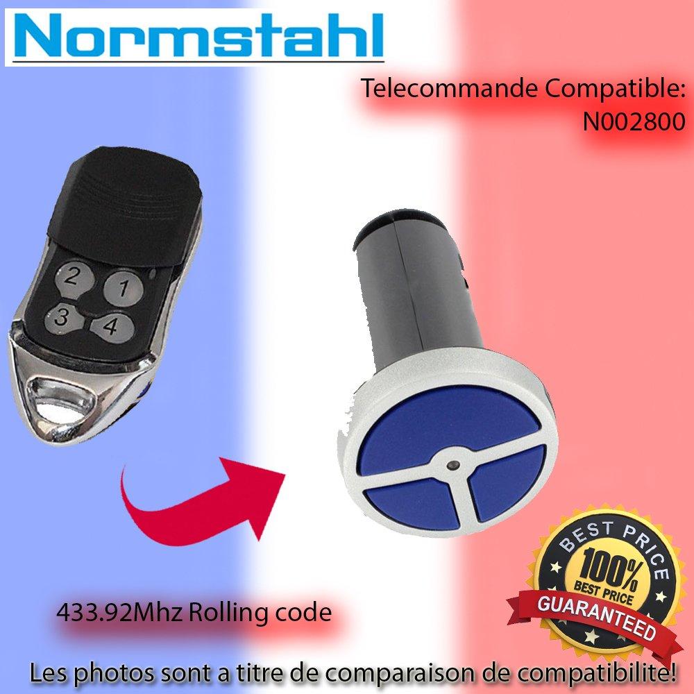 NORMSTAHL RCU 433-2 Le Remplacement de la t/él/écommande 433.92MHz