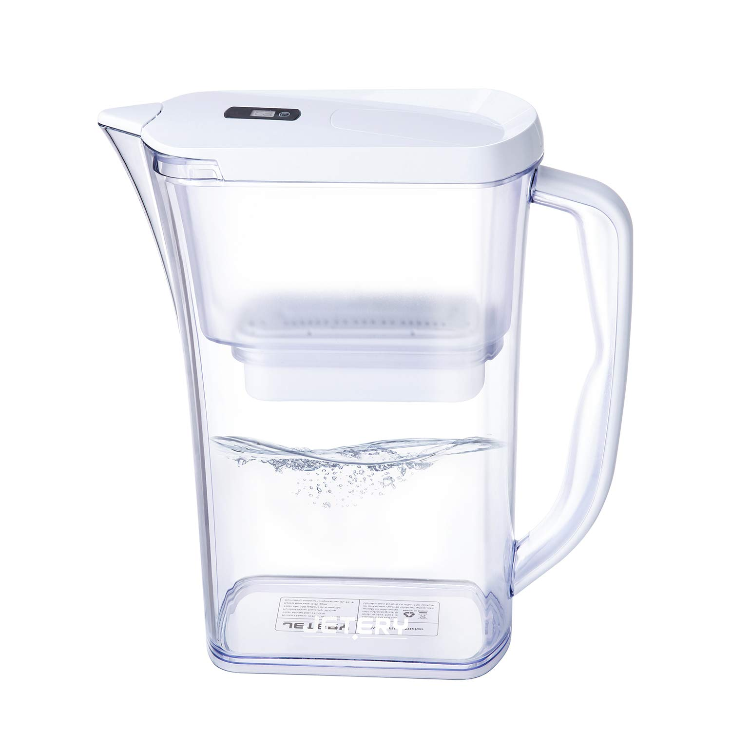 JETERY Water Filter Jug 2.8L Capacity, Long Lasting Fast Filtration with Patented ACF Military Technology, Cool Water Purifier Pitcher