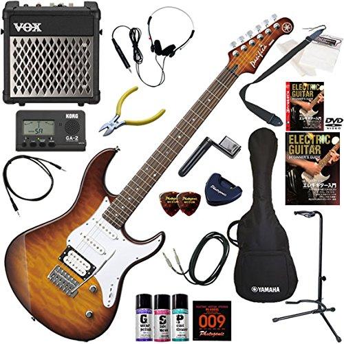 YAMAHA エレキギター 初心者 入門 人気のパシフィカ 美しいキルテッドメイプルトップ リズム機能とエフェクターを搭載したVOX MINI5RMが入ってる充実20点セット PACIFICA212VQM/TBS(タバコブラウンサンバースト) B00E7IQ03C TBS(タバコブラウンサンバースト)
