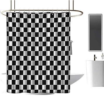 Amazon.com: TimBeve Cortina de ducha de tela, diseño ...