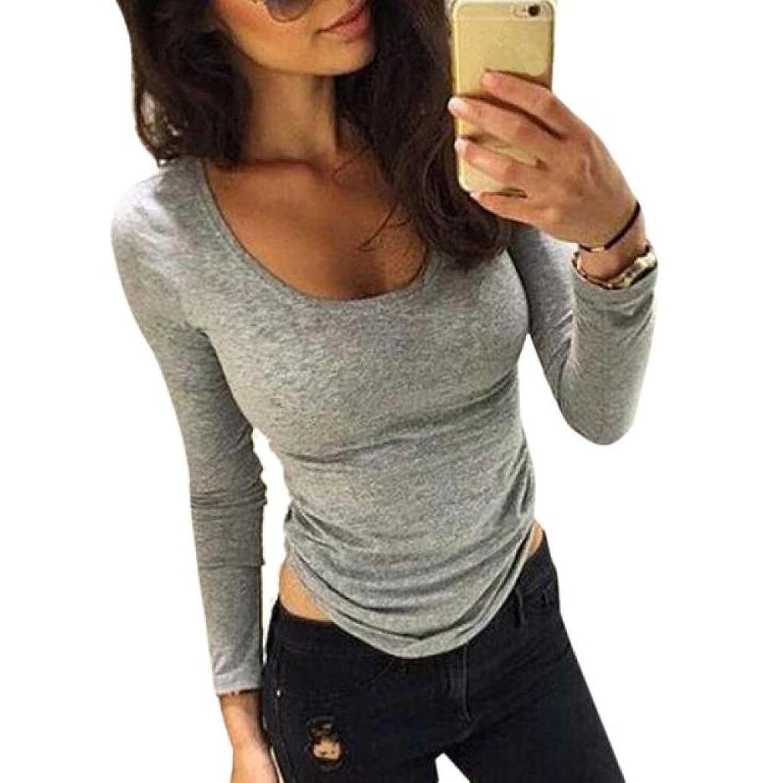 SANNYSIS Womens Long Sleeve Shirt Tops Blouse